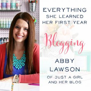Fantastic podcast interview about how to grow a blog with Abby Lawson of Just a Girl and Her Blog! She talks blog strategies, how to make money blogging and everything she learned her first year blogging.