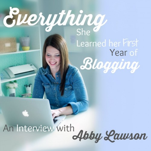everything she learned her first year of blogging advice on a podcast