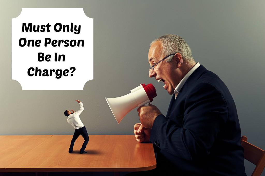senior boss screaming at small businessman