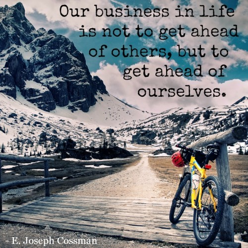 quoteourbusinessinlifegetaheadofourselves