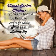 Episode 8:  Visual Social Media:  Five Types You Should be Using to Leverage More Shares and Authority