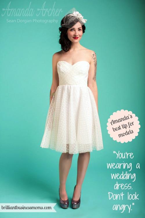 Amanda Archer Collection Wedding Dress Designer Tip for Models Brilliant Business Moms