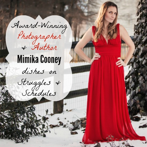 Mimika Cooney Award-Winning Newborn Photographer Author host of mimikaTV shares struggles and schedules and business advice for moms