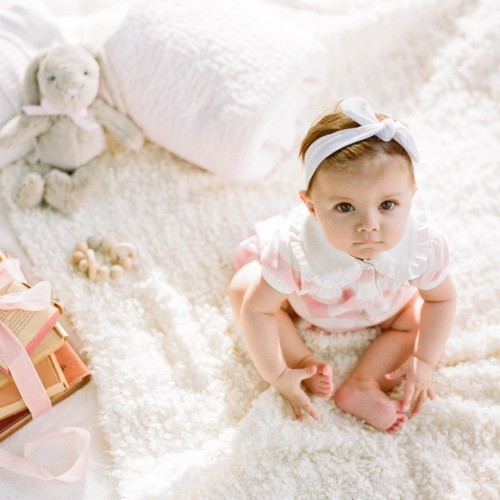 Sandy Barton's baby Spencer, the inspiration behind her organic clothing line for babies. Mompreneur. Brilliant Business Moms