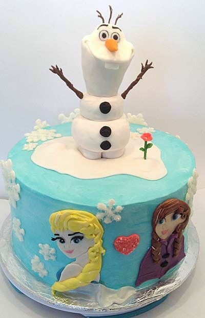 Frozen Cake by Beth Walburger of Little Delights Cakes mom business owner and mother of 5 shares her best biz tips
