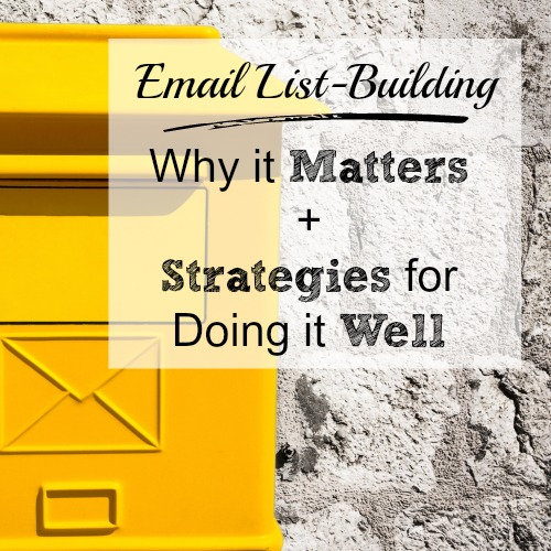 Why you should grow your email list, plus strategies for creating a killer opt-in #emailmarketing