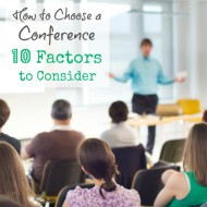038:  How to Choose a Conference; 10 Factors to Consider