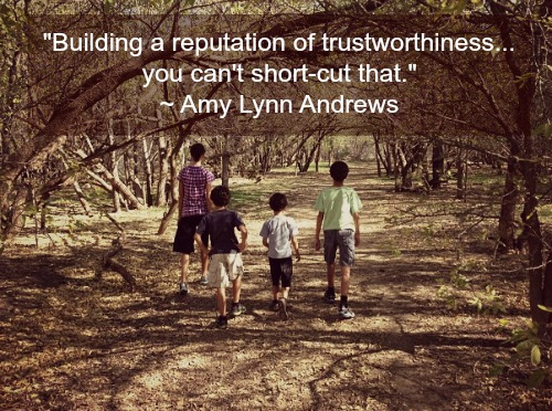Amy Lynn Andrews on trustworthiness #momblogger