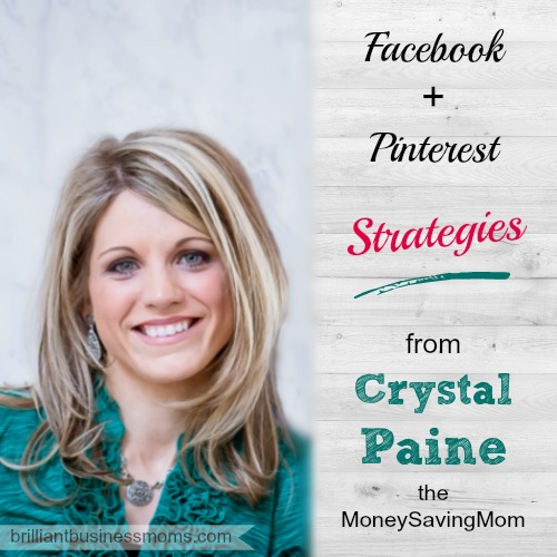 Crystal Paine, the MoneySavingMom shares the Facebook and Pinterest strategies that she's using right now to drive more traffic, get more engagement, and grow even more.  Her step by step list of strategies is easy to follow and implement.