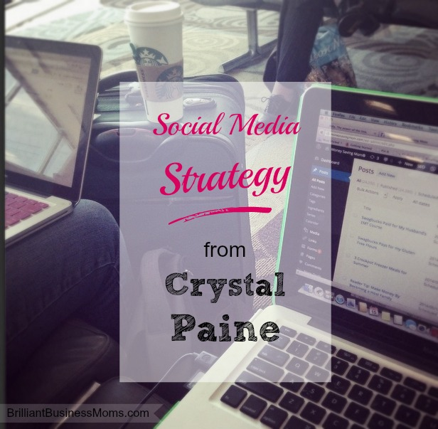 Crystal Paine shares her social media strategies on the Brilliant Business Moms podcast. Great, actionable steps you can take on both Facebook and Pinterest to get more results are shared.