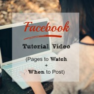 Facebook Tutorial Video: Pages to Watch + When to Post