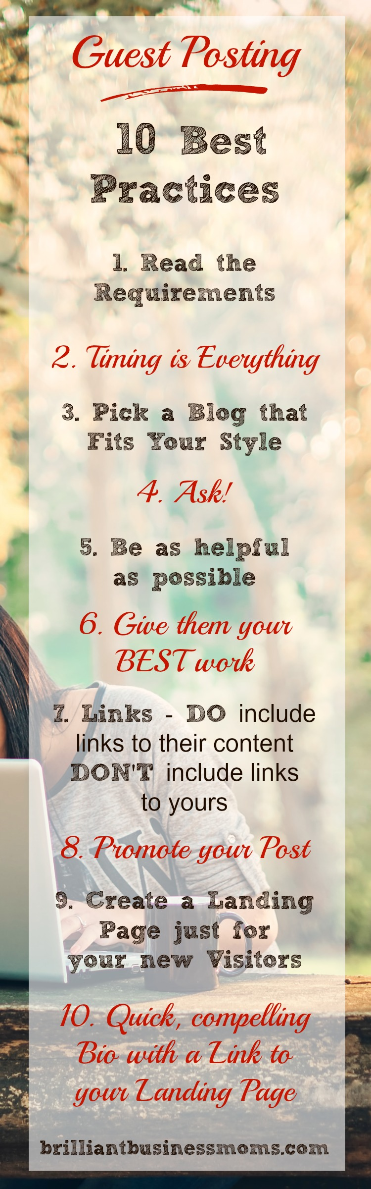 Guest Posting 10 Tips for Doing it Well and Making the Most of the Opportunity #bloggingadvice #guestpost