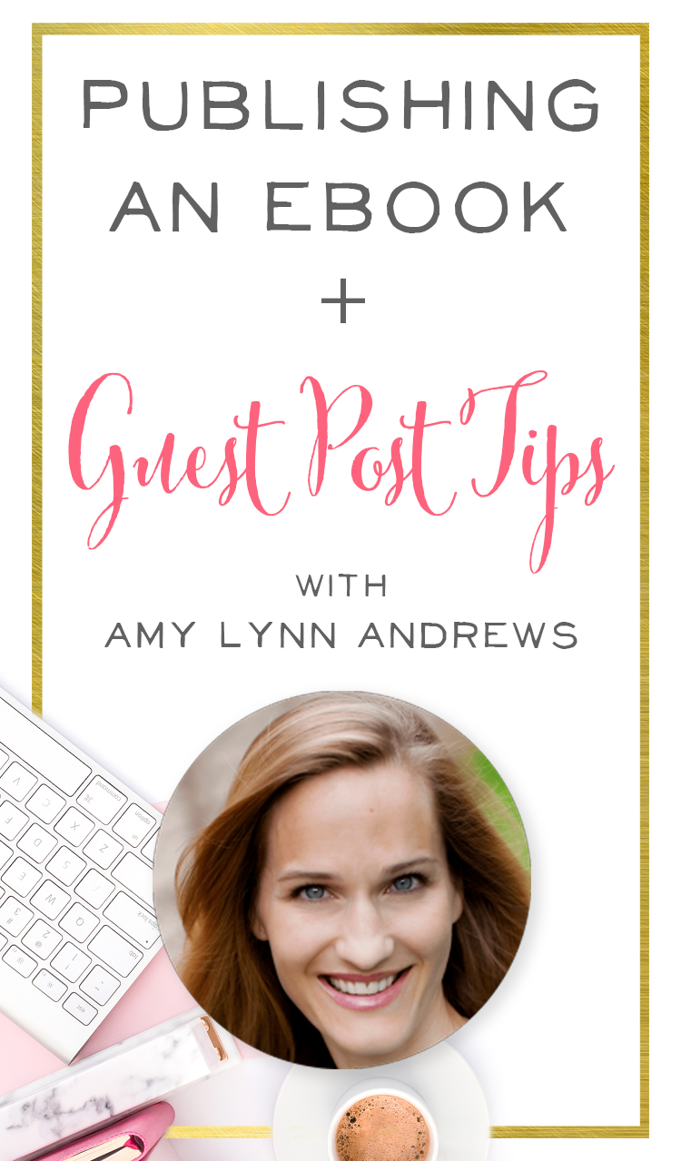 Ah, I love how practical and actionable this podcast interview with Amy Lynn Andrews is! She talks all about growing an audience, how to publish an ebook, and gives fantastic guest post tips. | Brilliant Business Moms podcast