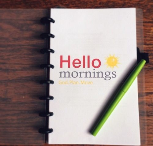 HelloMornings - Daily Accountability for Women from Kat Lee of InspiredtoAction