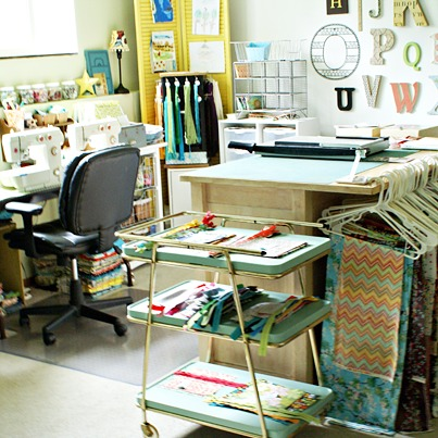 Melissa Kaiserman Etsy Shop Owner Workspace and Sewing Room