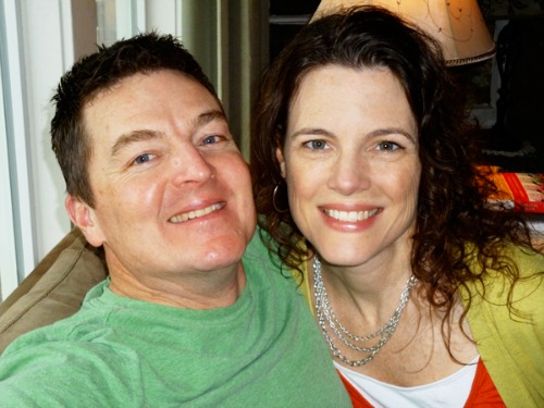 A Time for Everything Blogger Melissa Kaiserman with husband Dave