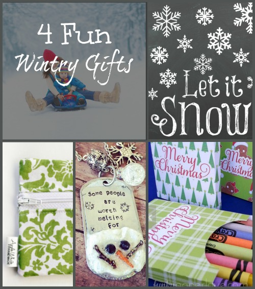 Win these four fun, wintry gifts along with 20 other fabulous prizes!  Refer your friends and earn more entries.  Merry Christmas from Brilliant Business Moms.  Find Gifts for You and Your List