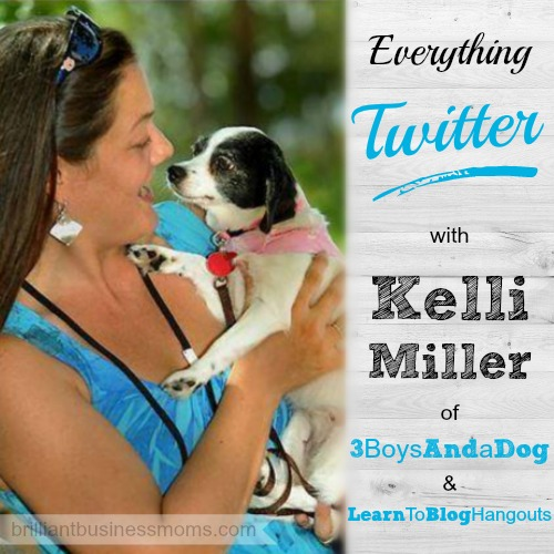 Kelli Miller teaches everything she knows about Twitter on the Brilliant Business Moms Podcast.  Included:  How to host a Twitter Party, How to Grow Your Following, and Her Favorite Twitter Tools.
