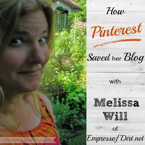 Learn how one viral Pin saved Melissa Will's blog.  @EmpressofDirt   After learning all that she could about Pinterest and crafting many viral posts since, Melissa now earns a full-time income blogging.  Hear her story on the podcast and grab the shownotes to put all of her best advice into action.
