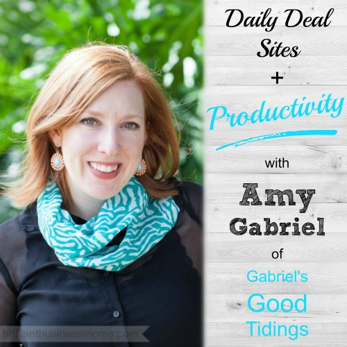 Have you ever considered a daily deal site for your small business? Amy Gabriel makes hundreds of sales by partnering with Jane.com to get more eyes on her products and gain new customers. Learn how Amy has grown her handmade business through daily deal sites, and how can you do it too! Brilliant Business Moms Podcast featuring Mompreneurs each week.