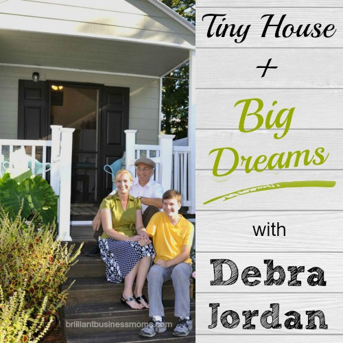 Think it's impossible to live comfortably in 300 square feet of space? Not for Debra Jordan. Learn all about her Tiny House and Big Dreams as an Etsy Seller. Watch a video home tour too! | brilliantbusinessmoms.com