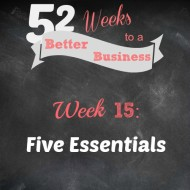 Week 15:  Five Essentials