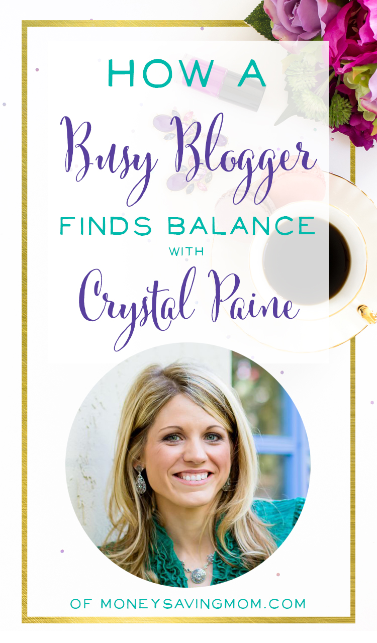 Crystal Paine of MoneySavingMom.com shares how she strikes a balance between motherhood, marriage, blogging, and self-care. She shares great tips for accomplishing your biggest goals, not getting overwhelmed, and enjoying life. Grab some new strategies to Say Goodbye to Survival Mode today. Podcast interview at brilliantbusinessmoms.com