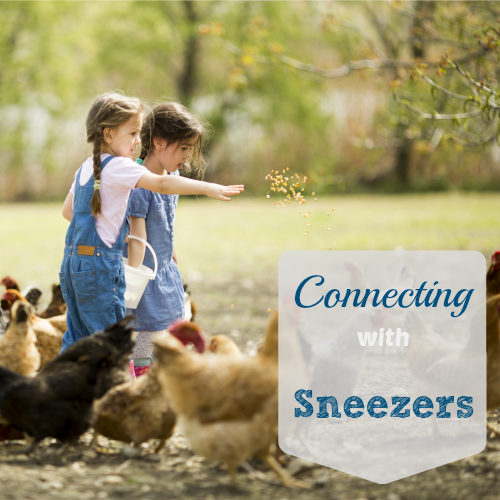 connecting with sneezers at Brilliant Business Moms