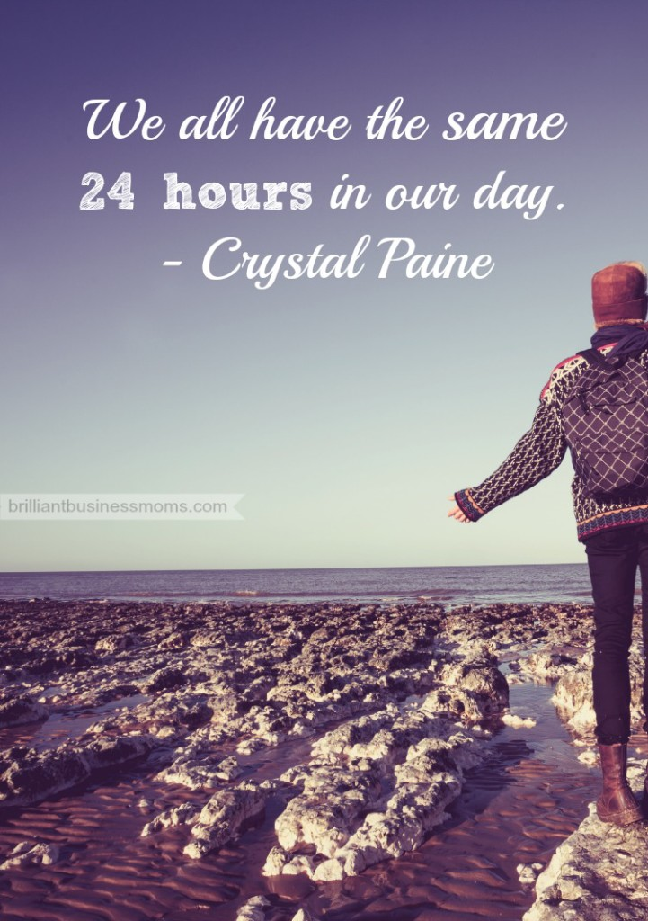 "Are you struggling with time management and letting your days run you? Get encouragement from mom blogger Crystal Paine. ""We all have the same 24 hours in our day."" Learn more about how Crystal balances her family, her blog, her business, and more on the brilliant business moms podcast. 