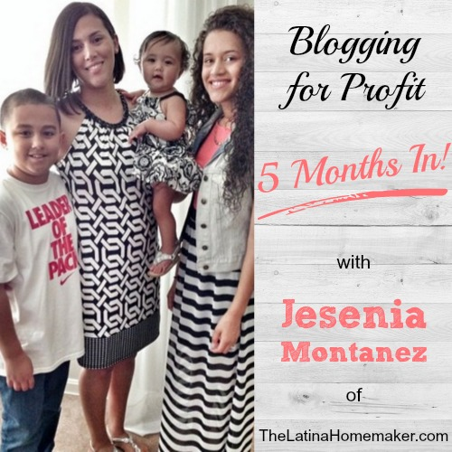 Jesenia managed to monetize her blog just 5 months in! Loved this interview - full of great advice on growing your blog. | brilliantbusinessmoms.com