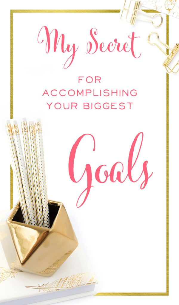 What a great strategy for getting big goals done and nailing productivity! I need to try this. | brilliantbusinessmoms.com