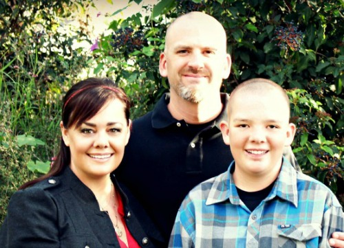 Tiffany Romero, founder of Bloggy Boot Camp, with her family