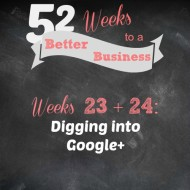 Weeks 23 + 24: Digging into Google+