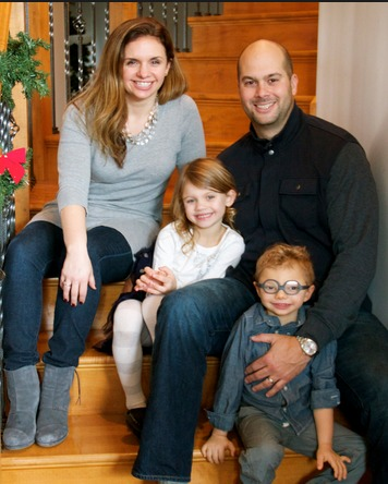 Mom inventor and CEO of Real Food Blends, Julie Bombacino with her family - husband Tony, daughter Luca, and son AJ