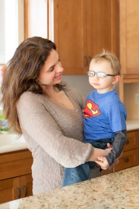 Mompreneur Julie Bombacino with her son AJ.  Julie founded Real Food Blends after struggling with nutrition for her son with a G-tube.  Listen to her story to learn how to research the market, pitch to investors, and partner with medical supply companies to turn your business into a reality.
