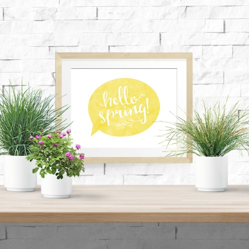 "Adorable ""Hello Spring"" Art Print by Sarah Design Printables. Learn how to Spring Clean Your Blog so that Readers Know What to Do, Aren't Overwhelmed, and Will Stay on Your Site."