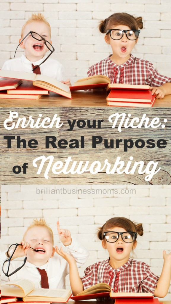Love the tips here! It's always seemed so scary to reach out to others in my niche to connect and collaborate. This post breaks it down and makes it feel do-able and not sleazy! Enrich your Niche: The Real Purpose of Networking | brilliantbusinessmoms.com
