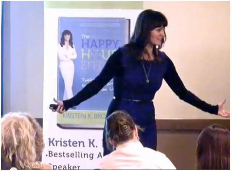 Kristen Brown went from burned out and overwhelmed at a corporate job to a happy, well-balanced entrepreneur. Host of The Happy Hour Effect , she'll teach you how to manage stress.