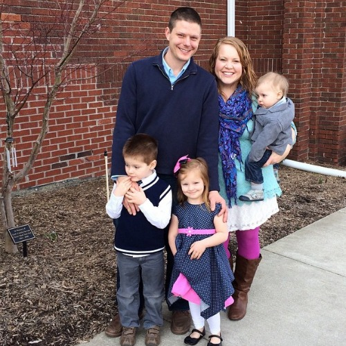 Rebecca Smith with her adorable family.