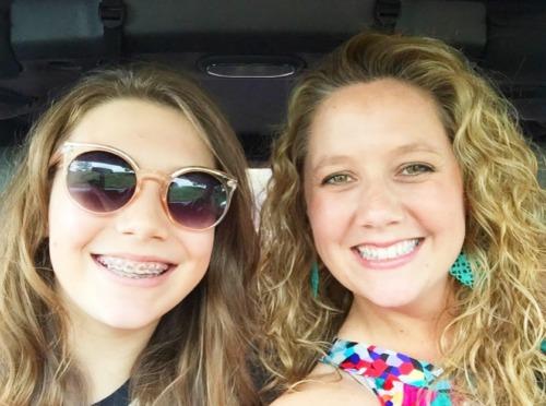 Kirsten with her daughter