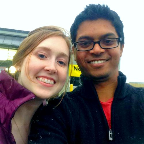 Sarah with her business-savvy husband, Praveen.