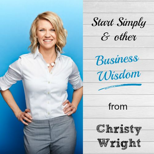 Such great, balanced tips. And I love her down-to-earth style! Business advice from Christy Wright. | brilliantbusinessmoms.com/99