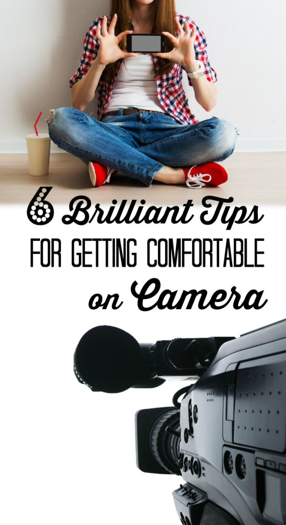 Finally - a post about getting comfortable on camera by a real mom! These tips, I can handle - great video about the tips too. | brilliantbusinessmoms.com