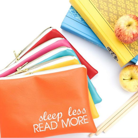 Sleep Less Read More Adorable Pouch from Lucy Jane - Plus a Great Interview on How to Grow an Etsy Shop