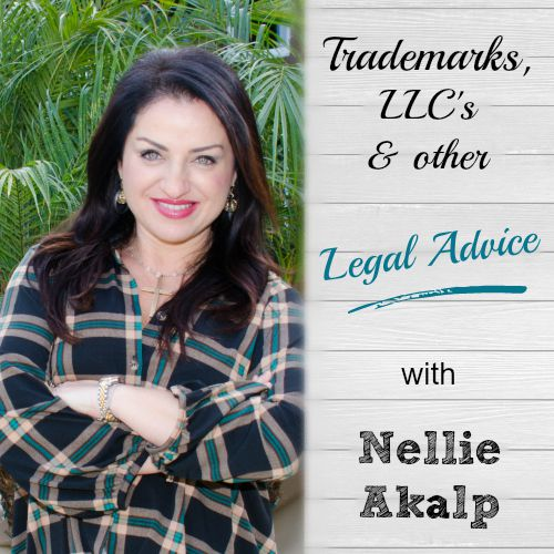 Trademarks, LLC's and other Legal Advice with Nellie Akalp - great tips! I never knew how to go about getting a Trademark but now it seems really do-able. brilliantbusinessmoms.com/102