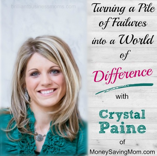 Did you know even Crystal Paine has had failed businesses? I love her transparency and her focus in her new book - Money Making Mom, and it was so fun to talk on Skype with her about what it means to her and how she's empowering women to earn more and make a difference. | brilliantbusinessmoms.com