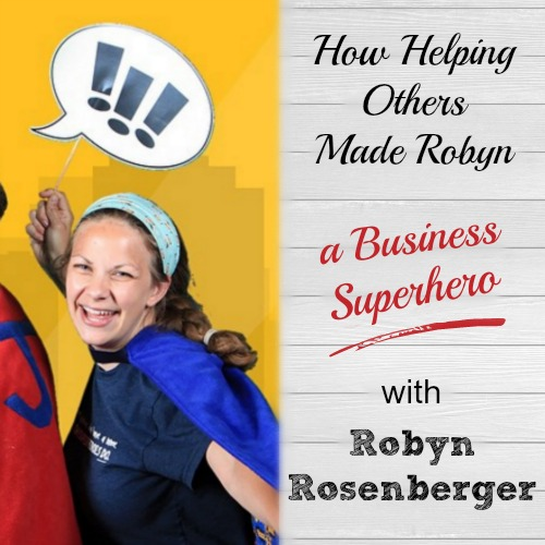 Oh my goodness this story will make you cry! Robyn Rosenberger has built an incredible business - Tiny Superheroes - which encourages kids with disabilities or illness and lets them know that they're all superheroes. Love this. | brilliantbusinessmoms.com