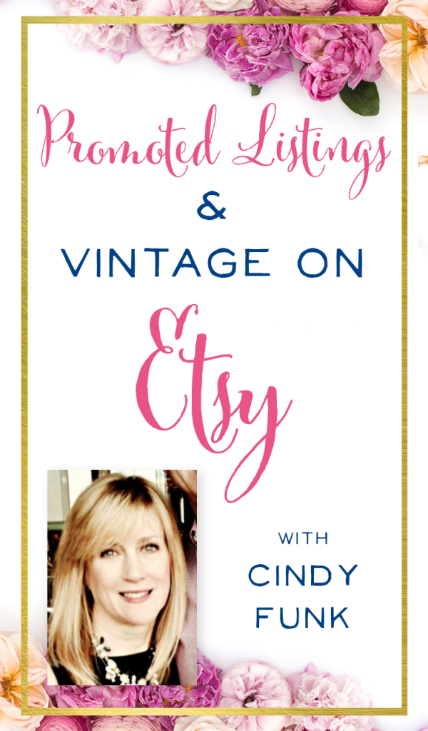 What a great interview! Cindy Funk has made over 6,000 sales on Etsy in a super unique vintage niche. She's always testing and tweaking, so it was great to hear what she's doing with promoted listings, and how she keeps her customers coming back. How to get sales on Etsy. Vintage Etsy Seller Advice. | brilliantbusinessmoms.com