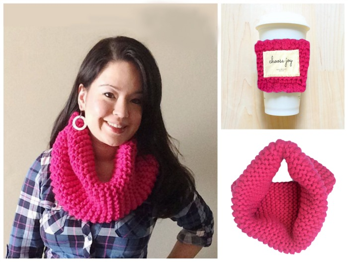 hand-knit-gifts-tokyblossom-bright-colors-cowl-coffee-cozy