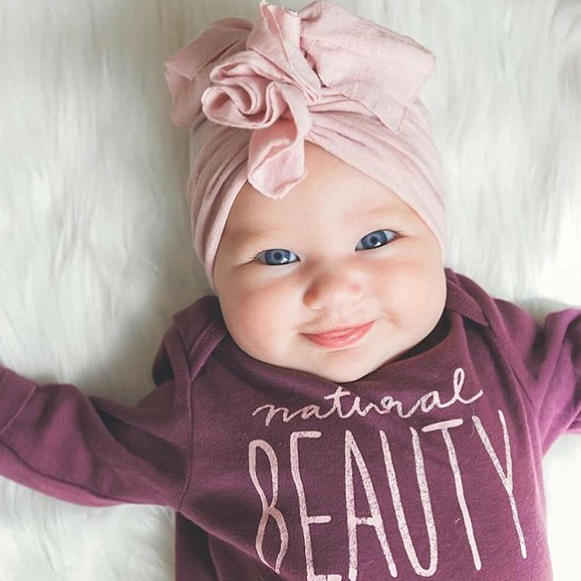 Adorable Baby Turban hat by BluTaylor - a brilliant brand from Mamapreneur Katie Alarid